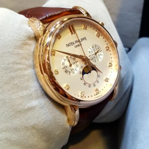 Patek Philippe Chronometer Moon Phase Rose Gold Men's Watch