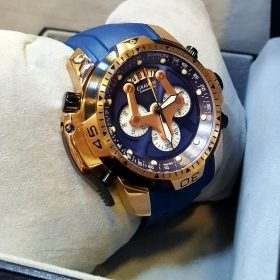 Graham Chronograph Blue Golden Combination Men's Watch
