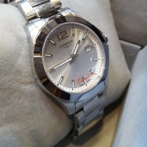 Longines Date Display Stainless Steel Men's Watch