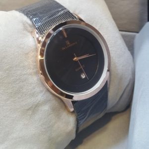 De Lawrence Stainless Steel Black Dial Men's Watch