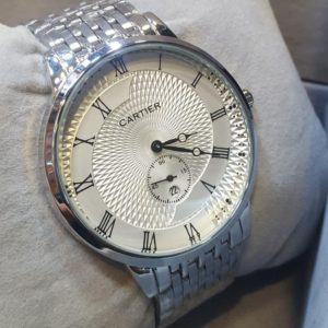 Cartier White Dial Chronometer Roman Figure Men's Watch