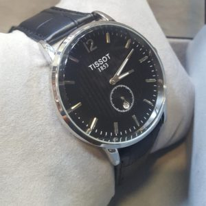 Tissot Black DIal Chronometer Leather Belt Men's Watch