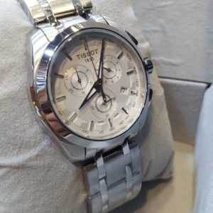 Tissot Tachymeter Chronograph White Dial Men's Watch