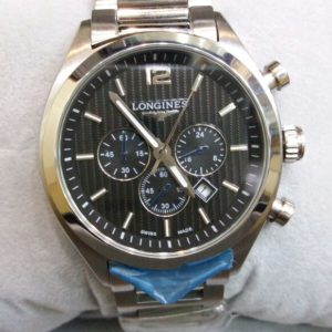 Longines Chronograph Dual Black Tone Men's Watch