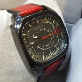 Diesel Sports Edition Red Leather Belt Men's Watch