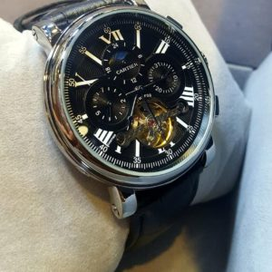 Cartier Chronograph Moon Phase Black Men's Watch