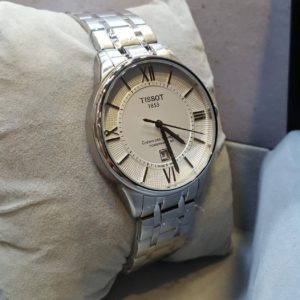 Tissot Roman Figure Silver Metal Men's Watch