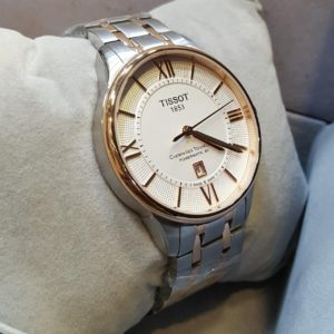 Tissot Cream Dial Date Display Silver Body Men's Watch