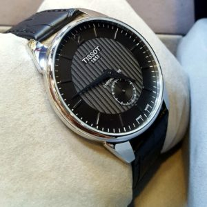 Tissot 1853 Dual Hand Black Dial Leather Men's Watch