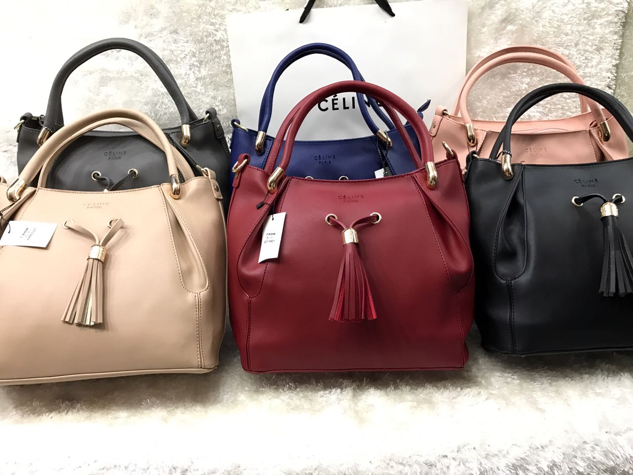 d9c5379601d7 CÉLINE Paris 3 In 1 Handbag Set For Women Baby Beige Price In Pakistan