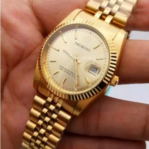 Proking Golden Chain Date Display Men's Watch Price In Pakistan