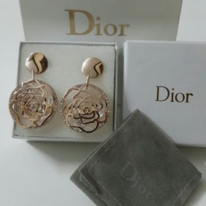 Dior Golden Floral Design Earring Set Price In Pakistan