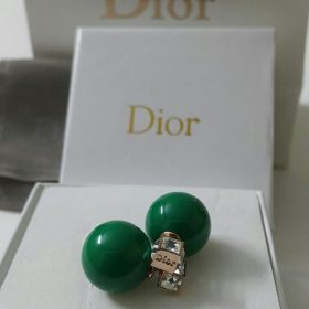 Dior Green Ball Round Shaped Earrings Set Price In Pakistan