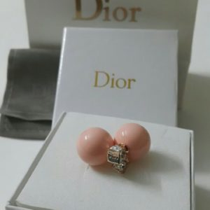 Dior Pink Ball Round Shaped Earrings Set Price In Pakistan