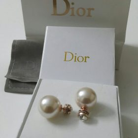 Dior White Ball Round Shaped Earrings Set Price In Pakistan