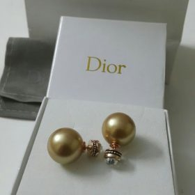 Dior Golden Ball Round Shaped Earrings Set Set Price In Pakistan