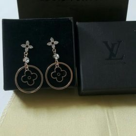 Louis Vuitton Black Hooked Sterling Golden Round Earrings Set Price In Pakistan