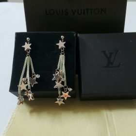 Louis Vuitton Hanging Stars Creamy Chain Diamond Earring Set Price In Pakistan