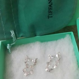 Tiffany & Co Link Chain Shaped Silver Earrings Set Price In Pakistan