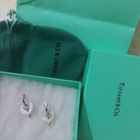 Tiffany & Co Open Heart Silver Earring Set With Micro Diamonds Price In Pakistan