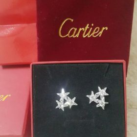 Cartier Star Shaped 3 Diamond Earrings Set For Her Price In Pakistan
