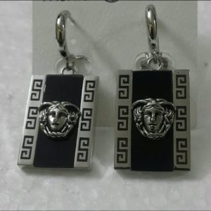 Versace Square Shaped Silver Earrings For Women Price In Pakistan
