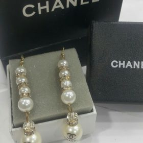 Chanel Pearl Long Drop Earring Set Price In Pakistan