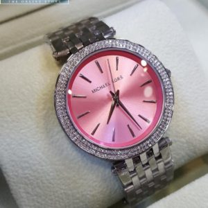 Michael Kors Stainless Steel Pink Dial Watch Price In Pakistan