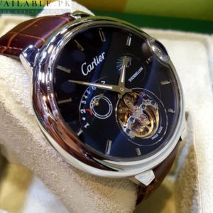 Cartier Ballon Bleu 39 Flying Tourbillon Black flinqué enamel Watch Price In Pakistan