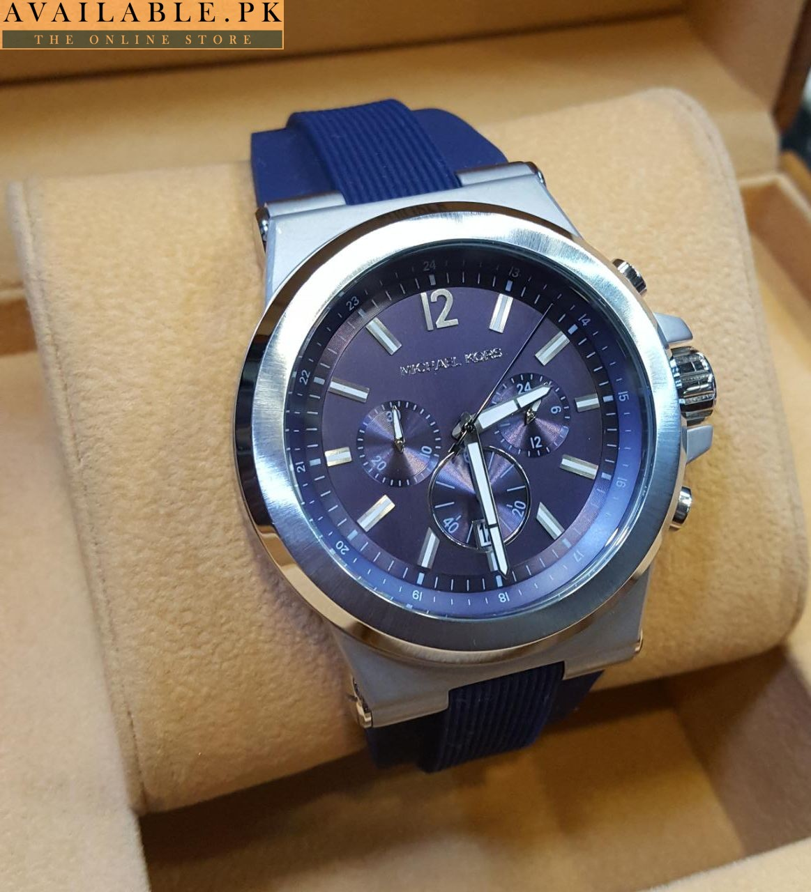 c756891f19ae Michael Kors Chronograph Dylan Navy Silicone Strap Watch 48mm MK8295 For Men  Price In Pakistan 2