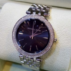 Michael Kors Silver Body Black Dial Watch Price In Pakistan