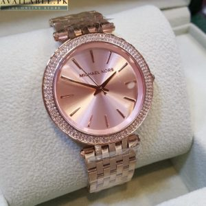 Michael Kors Stainless Steel Copper Dial Watch For Women Price In Pakistan