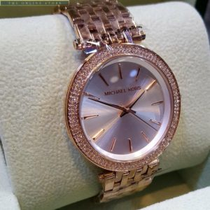 Michael Kors Stainless Steel Golden Dial Watch For Women