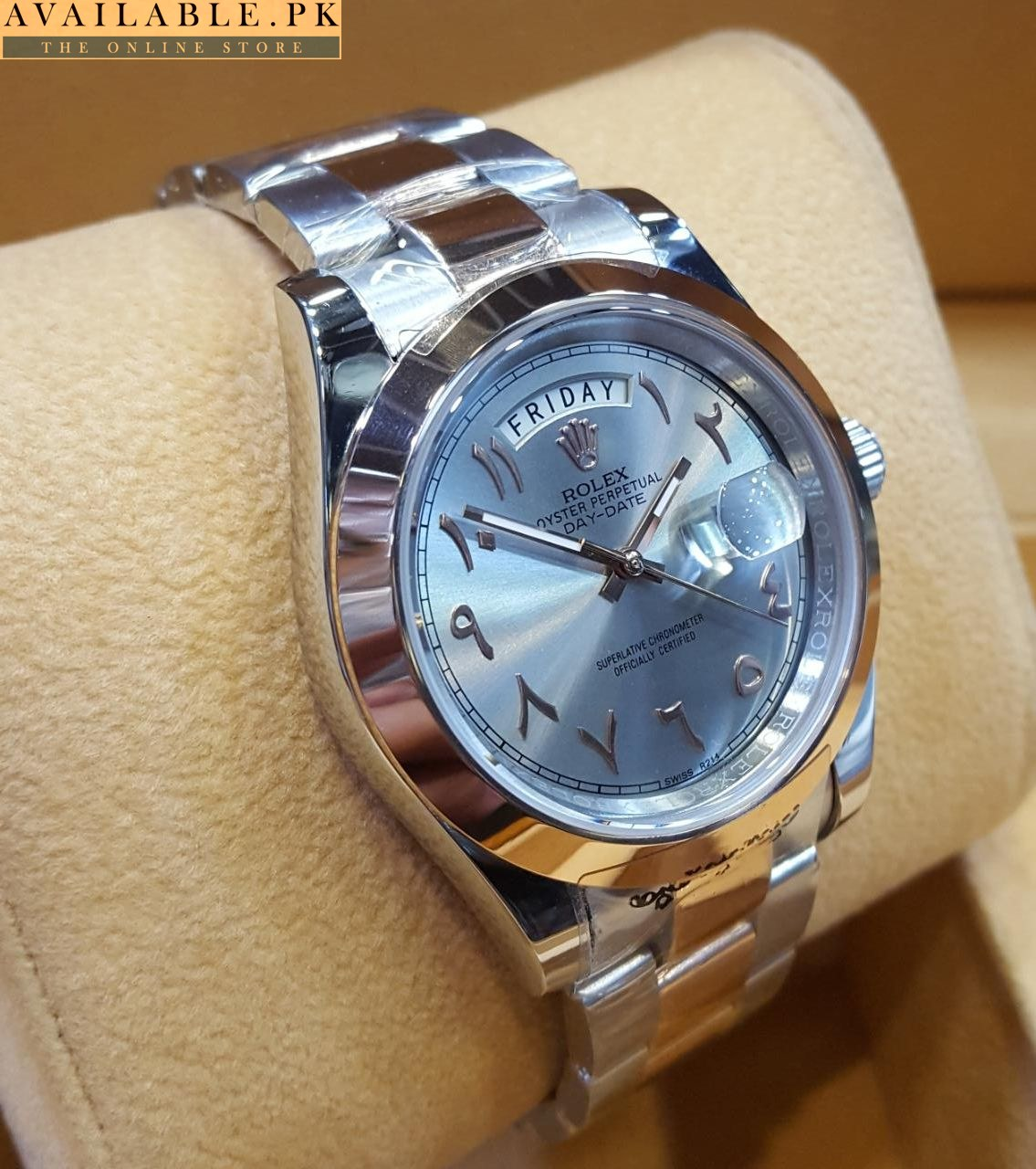 Rolex Day Date Arabic Dial Dual Tone Gents Watch 228206 2017