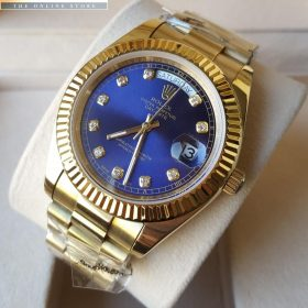 Rolex Lapis Blue Dial Oyster Perpetual Day Date Watch