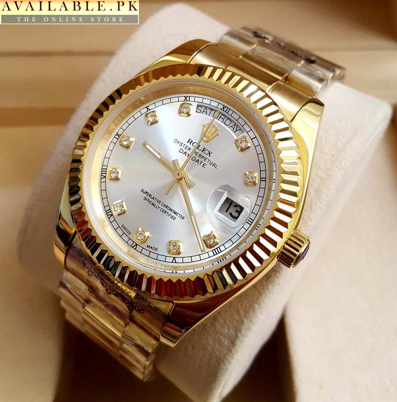 gold p men day automatic watch rolex date perpetual ebay watches yellow s oyster mens