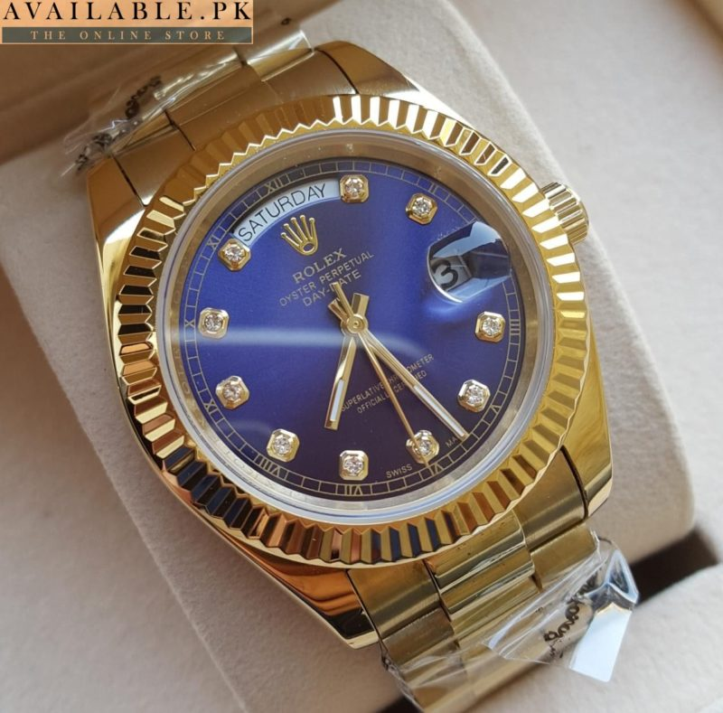 13d6f738e2c Rolex Lapis Blue Dial Oyster Perpetual Day Date Watch