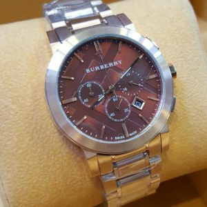 Burberry Chronograph Silver With Maroon Dial Watch Price In Pakistan