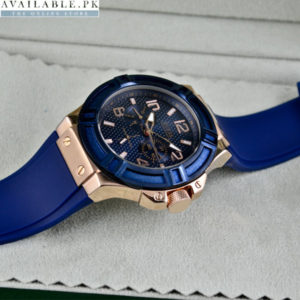 GUESS RIGOR BLUE RUBBER Watch
