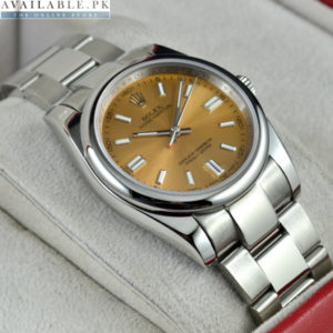 ROLEX OYSTER Honey Brown Men's Watch