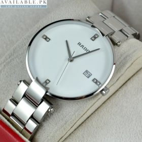 Rado Coupole Steel White Dial Watch For Men