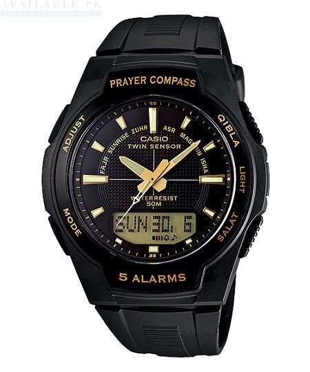 Casio Prayer Compass CPW-500H-1AVDR- For Men