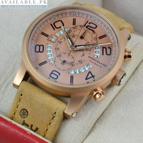 Montblanc Flyback Suede Men's Watch price in Pakistan