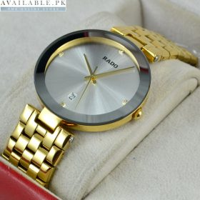 Rado Diastar Date Golden Stainless Watch For Men