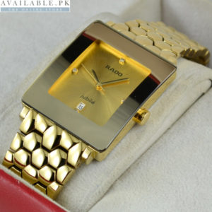 Rado Florence Square Golden Stainless Watch For Men