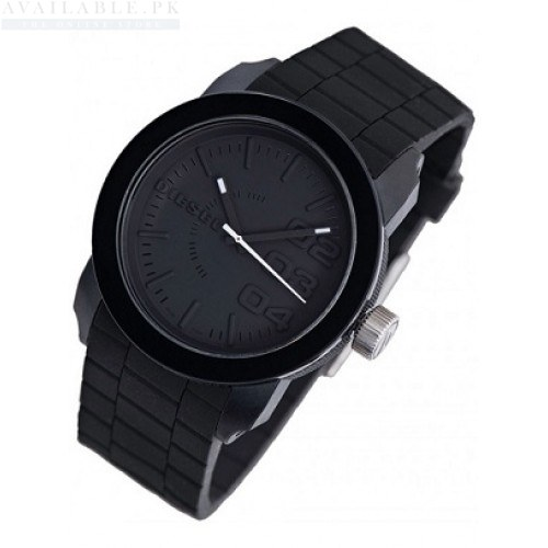 Diesel DZ1437 Double Down Black Silicone Watch