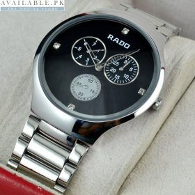 Rado Thin line Cosmograph Black Dial Watch For Men