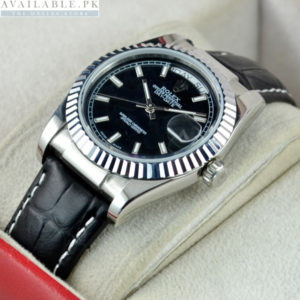 Rolex Day Date Black Dial For Men's Watch