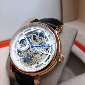 Patek Philippe Skeleton Blue Hands Dual Time Moon Phase Watch Price In Pakistan