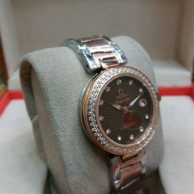 Omega Ladymatic CO-AXIAL RoseGold Brown Dial Watch Price In Pakistan